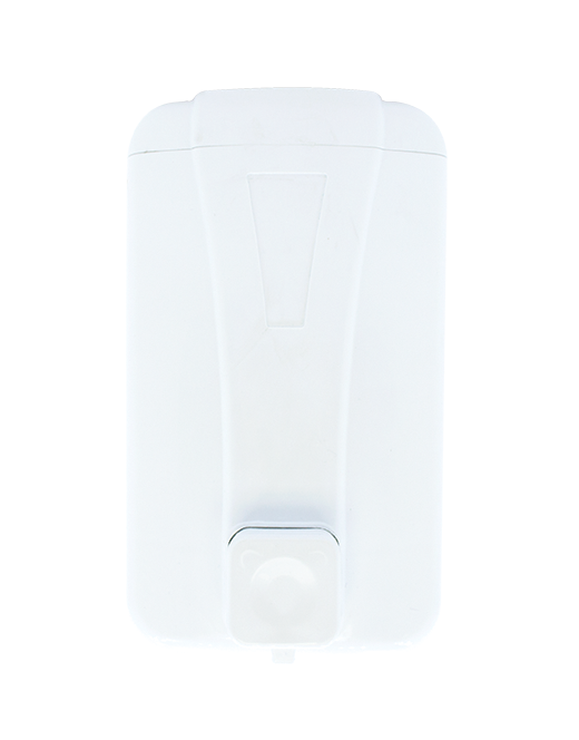 white foam soap dispenser